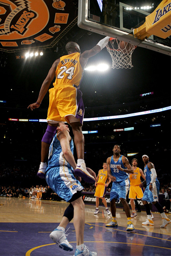 kobe bryant dunking on someone. Kobe Bryant Vs Lebron James